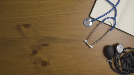Overhead-View-of-Doctors-Table-Surface-Background-with-Left-Copy-Space