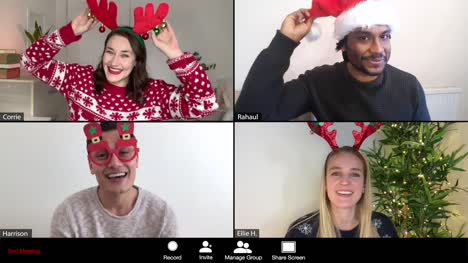 4-Way-Split-Screen-Group-Video-Christmas-Call-Amongst-Friends