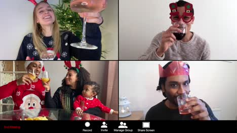 4-Way-Split-Screen-Group-Video-Call-Amongst-Friends-Celebrating-Christmas