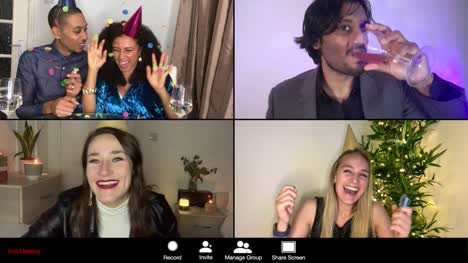 4-Way-Split-Screen-New-Years-Eve-Group-Video-Call-Amongst-Friends