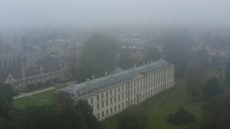 Drone-Shot-Orbiting-Buildings-In-Misty-Oxford-04