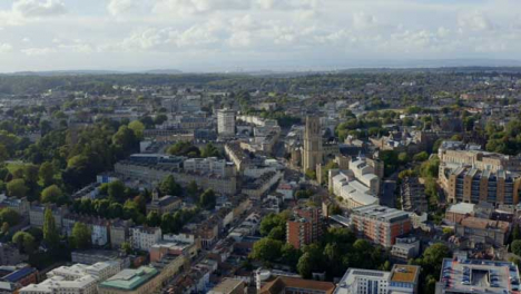 Drone-Shot-Orbiting-Buildings-In-Bristol-City-Centre
