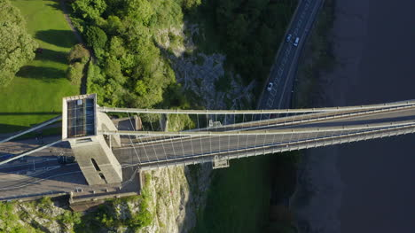 Overhead-Drone-Shot-Panning-Across-Clifton-Suspension-Bridge-02