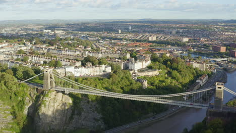 Orbiting-Drone-Shot-Approaching-Clifton-Suspension-Bridge