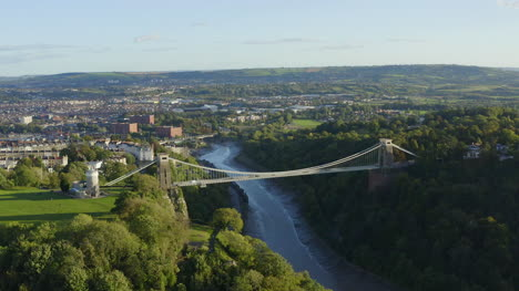 Orbiting-Drone-Shot-Pulling-Away-From-Clifton-Suspension-Bridge