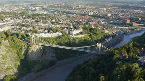 Drone-Shot-Orbiting-Clifton-Suspension-Bridge-14