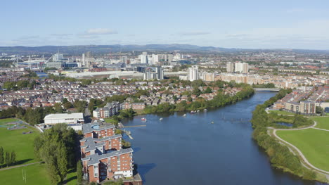 Drone-Shot-Orbiting-Cardiff-City-Skyline-05
