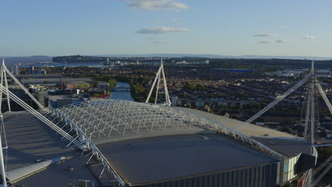 Orbiting-Drone-Shot-Pulling-Away-From-Principality-Stadium