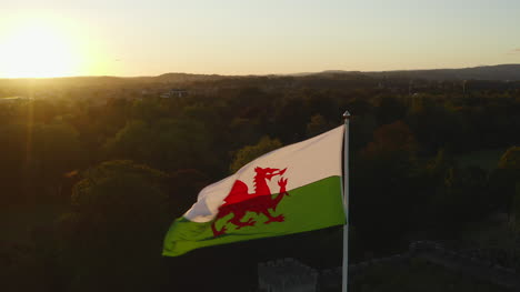 Drone-Shot-Pulling-Down-Cardiff-Castles-Welsh-Flag-02