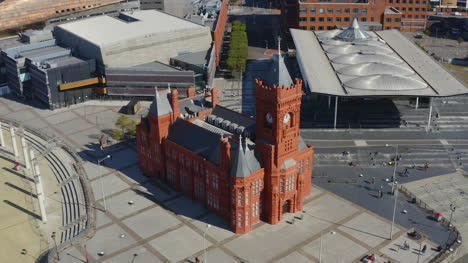 Drone-Shot-Orbiting-Cardiff-Pierhead-03