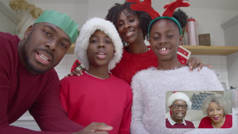 Two-Families-Video-Call-for-Christmas