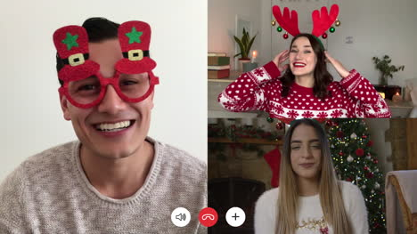3-Way-Christmas-Friends-Video-Call