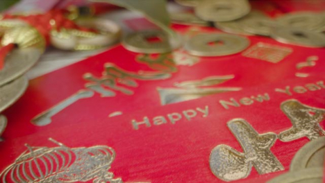 Sliding-Macro-Shot-of-a-Pile-of-Chinese-New-Year-Red-Envelopes