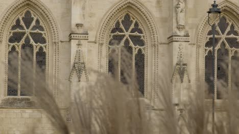 Long-Shot-Through-Grass-Looking-at-Gloucester-Cathedral