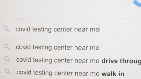 Typing-Covid-Testing-Center-in-Google-Search-Bar