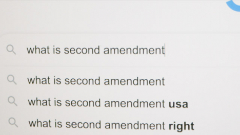 Typing-What-is-Second-Amendment-in-Google-Search-Bar