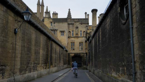 Tracking-Shot-Following-a-Cyclist-Down-Old-Oxford-Lane-