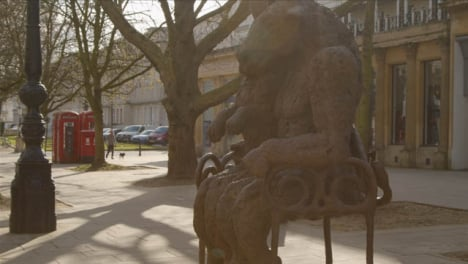 Tracking-Shot-Approaching-The-Hare-and-The-Minotaur-Statue