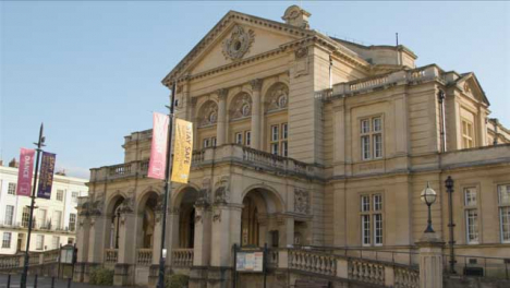Tracking-Shot-Looking-at-Cheltenham-Town-Hall
