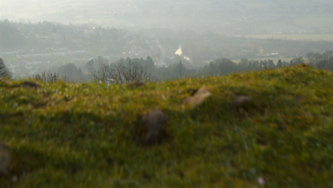 Tracking-Shot-Past-Small-Hill-Revealing-Somerset-Countryside-Fields