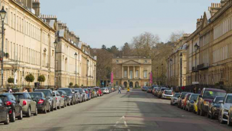 Wide-Shot-of-Great-Pulteney-Street-Looking-Towards-The-Holbourne