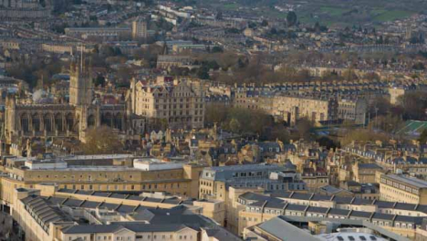 Panning-Shot-of-the-City-of-Bath