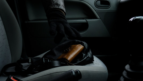 Long-Shot-of-Handbag-and-Purse-Being-Stolen-from-Car-Seat