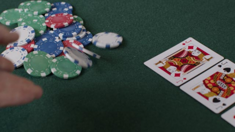 High-Angle-Shot-of-Turn-Card-During-a-Poker-Game-