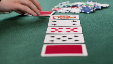 Tracking-Close-Up-Approaching-Community-Cards-as-Poker-Player-Folds