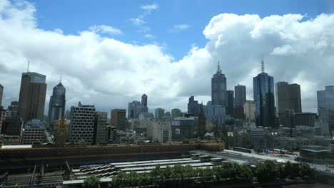 Melbourne-Australia-skyline-and-clouds-looming-above
