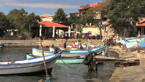 Nessebar-Bulgaria-waterfront-boats-and-birds