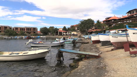 Nessebar-Bulgaria-waterfront-with-boats-in-water