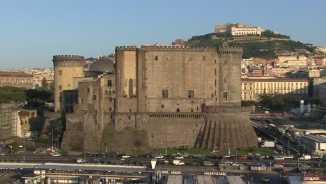 Naples-Italy-castle-and-traffic