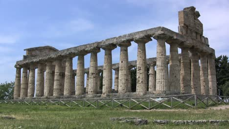 Italy-Paestum-Temple-of-Athena-side-view