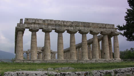 Italy-Paestum-Temple-of-Hera-front-view-mov