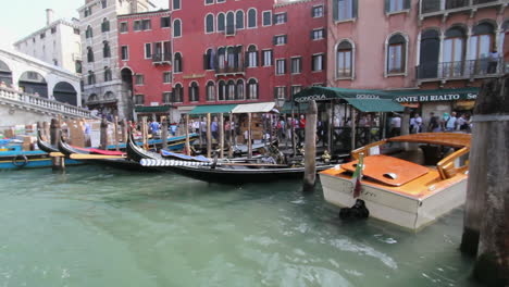 Venice-Italy-Grand-Canal-with-boats-docked