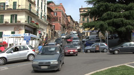 Italy-pedestrians-and-traffic-in-Rocca-di-Papa