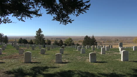 Little-Bighorn-Battlefield-National-Monument-cemetery-with-pine-branch