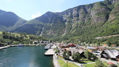 Norway-Flam-station-from-above