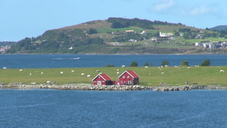 Stavanger-Norway-Hogsfjordens-with-a-red-house