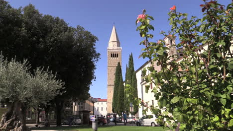 Koper-Slovenia-tower-with-rose