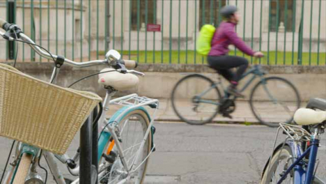 Tracking-Shot-Along-a-Public-Bicycle-Rack