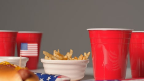 Sliding-Shot-Approaching-Small-Bowl-of-Fries