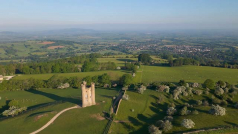 Drone-Shot-Flying-Away-from-Broadway-Tower