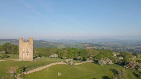 Drone-Shot-Flying-Past-Broadway-Tower-