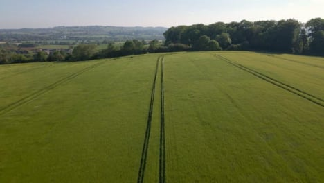 Drone-Shot-Passing-Over-a-Countryside-Agricultural-Field-
