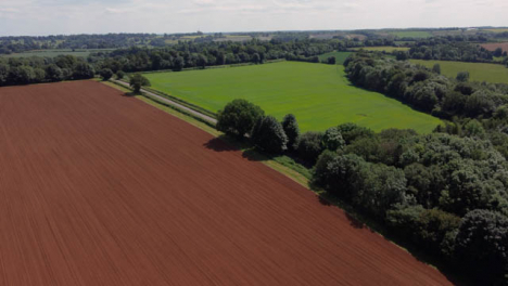 Drone-Shot-Flying-Over-Agricultural-Fields