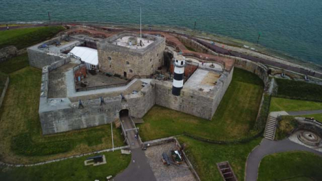 Drone-Shot-Orbiting-Around-Southsea-Castle-Part-1-of-2