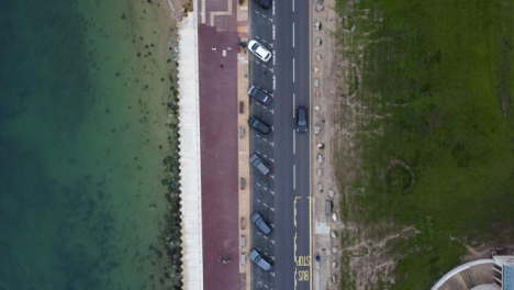 Drone-Shot-Looking-Down-and-Tracking-Coastal-Road-Part-2-of-2