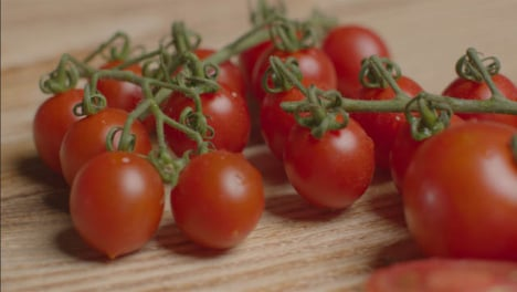 Close-Up-Shot-of-Tomatoes-On-Rustic-Wooden-Table-02